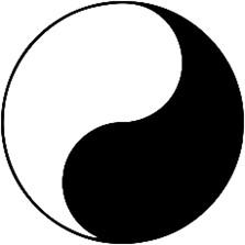 Yin und Yang Zeichen